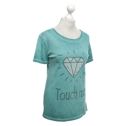 Camouflage Couture T-shirt in turchese