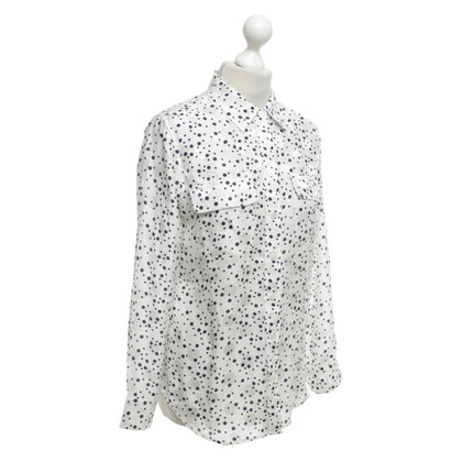 Equipment Blouse with dot pattern