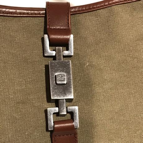 Verkauf Genießen Gucci Schultertasche in Bicolor Khaki Auslasszwischenraum Store Ufjax2lE