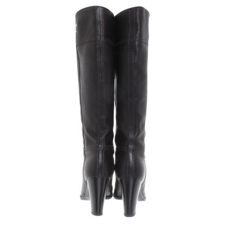 Hirschleder Prada Prada Stiefel Schwarz Stiefel schwarzem aus 8qPqX0
