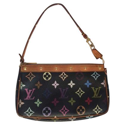"""Louis Vuitton """"Pochette Accessoires Monogram Multicolore Canvas Noir"""""""