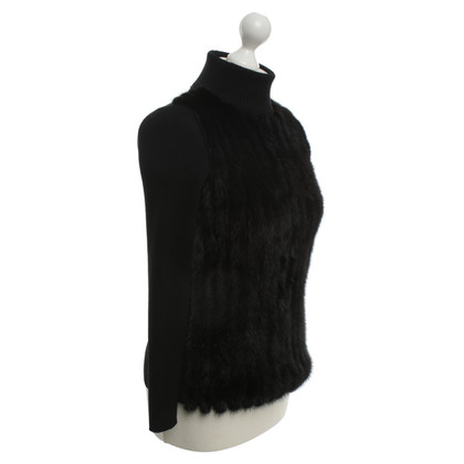 Prada Sweater with mink in black