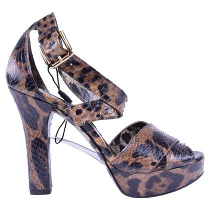 Dolce & Gabbana Sandalen Snakeskin