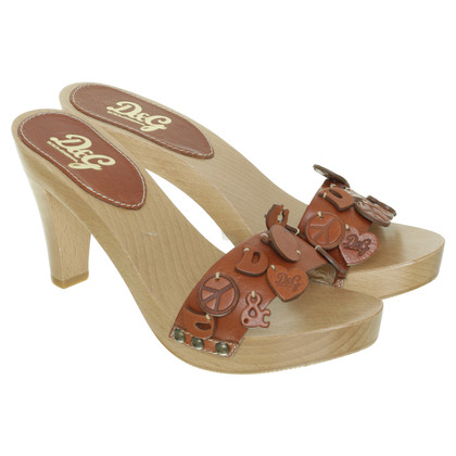 D&G Sandaal hout
