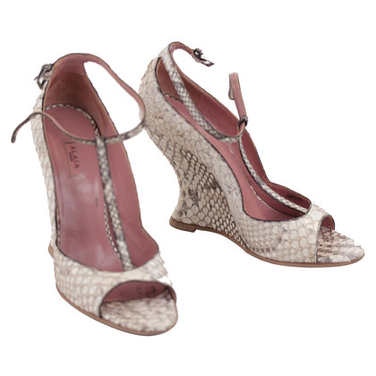 Alaïa Wedges slangenhuid