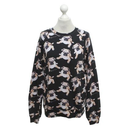 Au Jour Le Jour Sweater with motif print