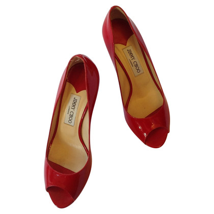Jimmy Choo Peeptoes in red