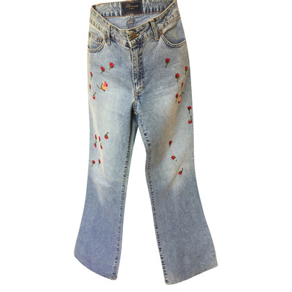 Blumarine Jeans with tulle roses