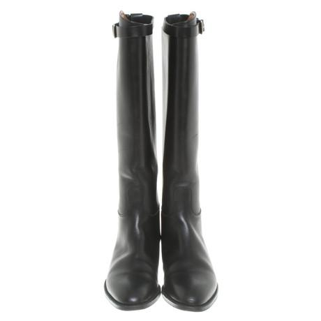 Heißen Verkauf Günstiger Preis Outlet Mode-Stil Hermès Stiefel in Schwarz Schwarz Xq852uQ