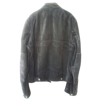 Gucci giacca di pelle scamosciata di stile