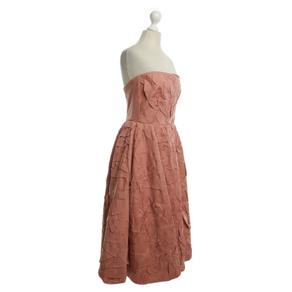 Rochas Bustier dress in dusty pink