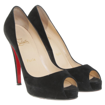 Christian Louboutin Peep-Toes in Schwarz