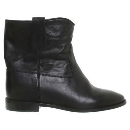 Isabel Marant Leather ankle boots in black