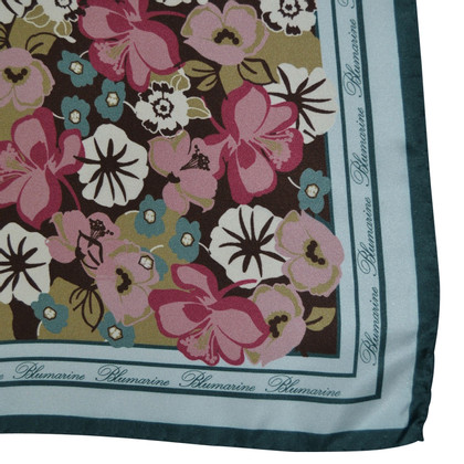 Blumarine Silk scarf with floral pattern