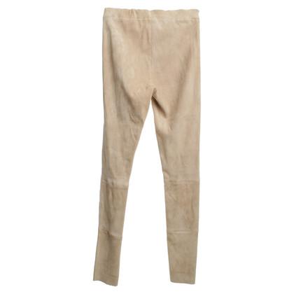 Arma LAMBLE leather trousers in beige