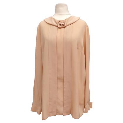 Prada Zijden blouse met pin tucks