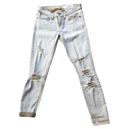 Current Elliott  jeans in cream colour