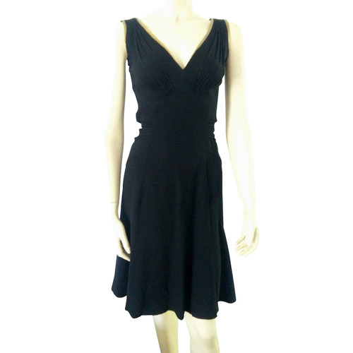 0b428a57a12 Prada Cocktail dress with leather insert - Second Hand Prada ...
