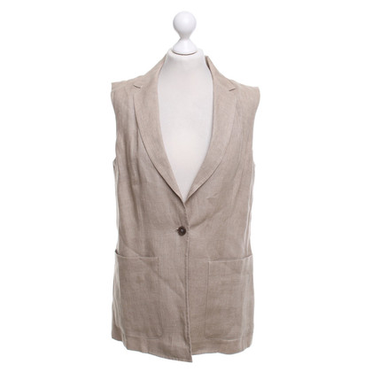 Max Mara Linen vest in nature