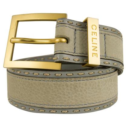 Céline Blue leather belt