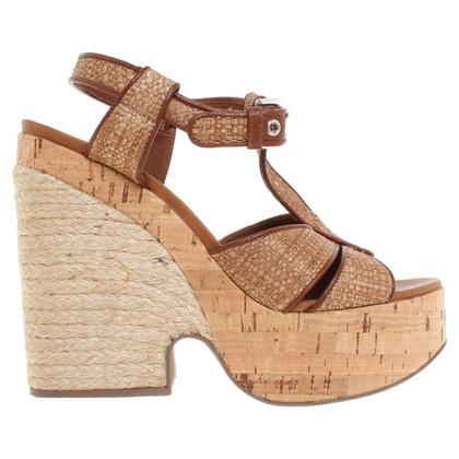 Dolce & Gabbana Sandalen met kurk / raffia