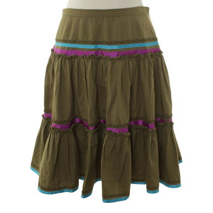 Etro skirt in olive green