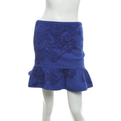 Roberto Cavalli Gonna a maglia in blu