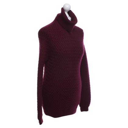 Malo Knit sweater in wine red