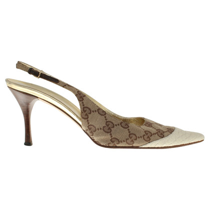 Gucci Slingbacks in Beige