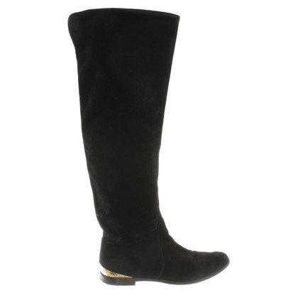 Sergio Rossi Leather boots in black