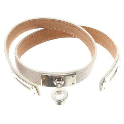 Hermès '' Kelly '' bracelet in white
