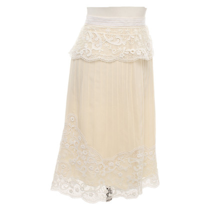 Temperley London Silk skirt with lace