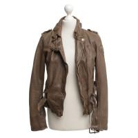 Other Designer Tigha - leatherjacke in light brown