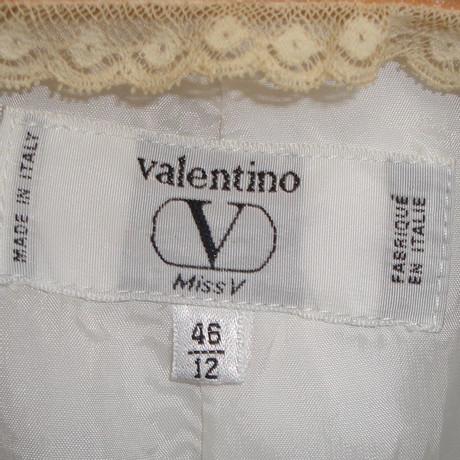 Valentino Kost眉m aus Valentino aus aus Leinen Leinen Wei Wei Leinen Valentino Wei Valentino Kost眉m Kost眉m xxPwqTvr