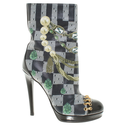 Moschino Boots with motive pattern