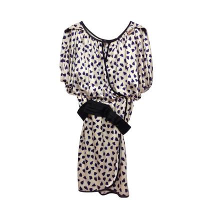Marc Jacobs Zijden jurk met print en riem