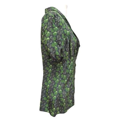 Prada Zijden blouse met korte mouwen
