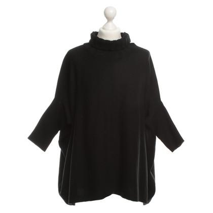 Diane von Furstenberg Knitted Poncho in black