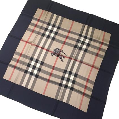 Burberry Sciarpa di seta con motivo a quadri nova