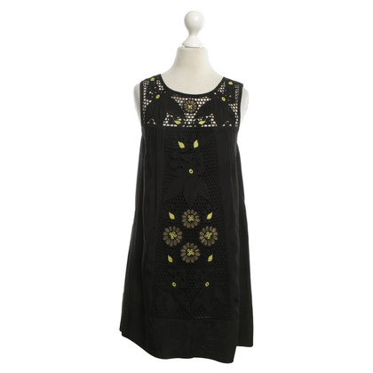 Ella Moss Dress with crochet appliqué