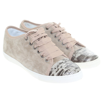 Lanvin Wildleder-Sneakers in Beige