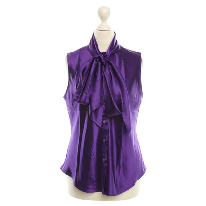Ralph Lauren Zijde satijn blouse met Schluppe