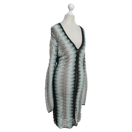 Missoni Kleurrijke gebreide jurk