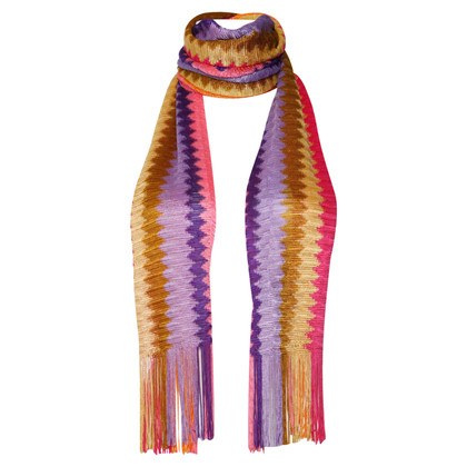 Missoni Multi-colored scarf with fringes