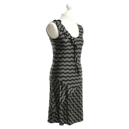 Max & Co zijden jurk in zwart / grey