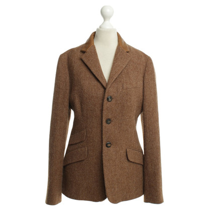 Ralph Lauren Blazer con colletto in pelle