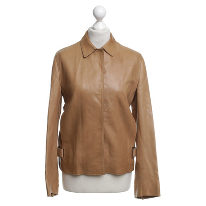 Prada Leather jacket in light brown