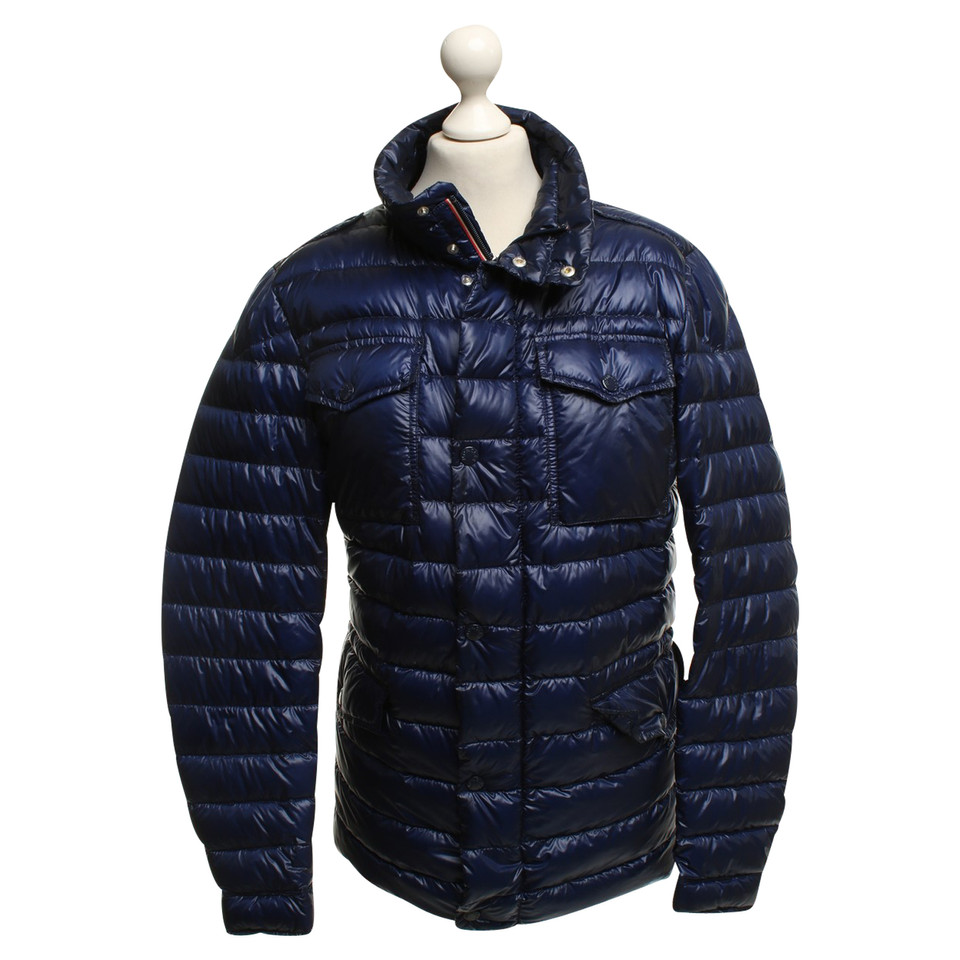 mont blanc quilted jacket in blue buy second hand mont
