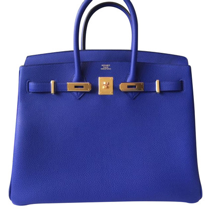 Hermès Birkin Bag 35 Togo Blue Electric