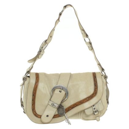 Christian Dior Schoudertas in beige